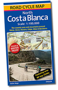 Costa Blanca Cycle Map