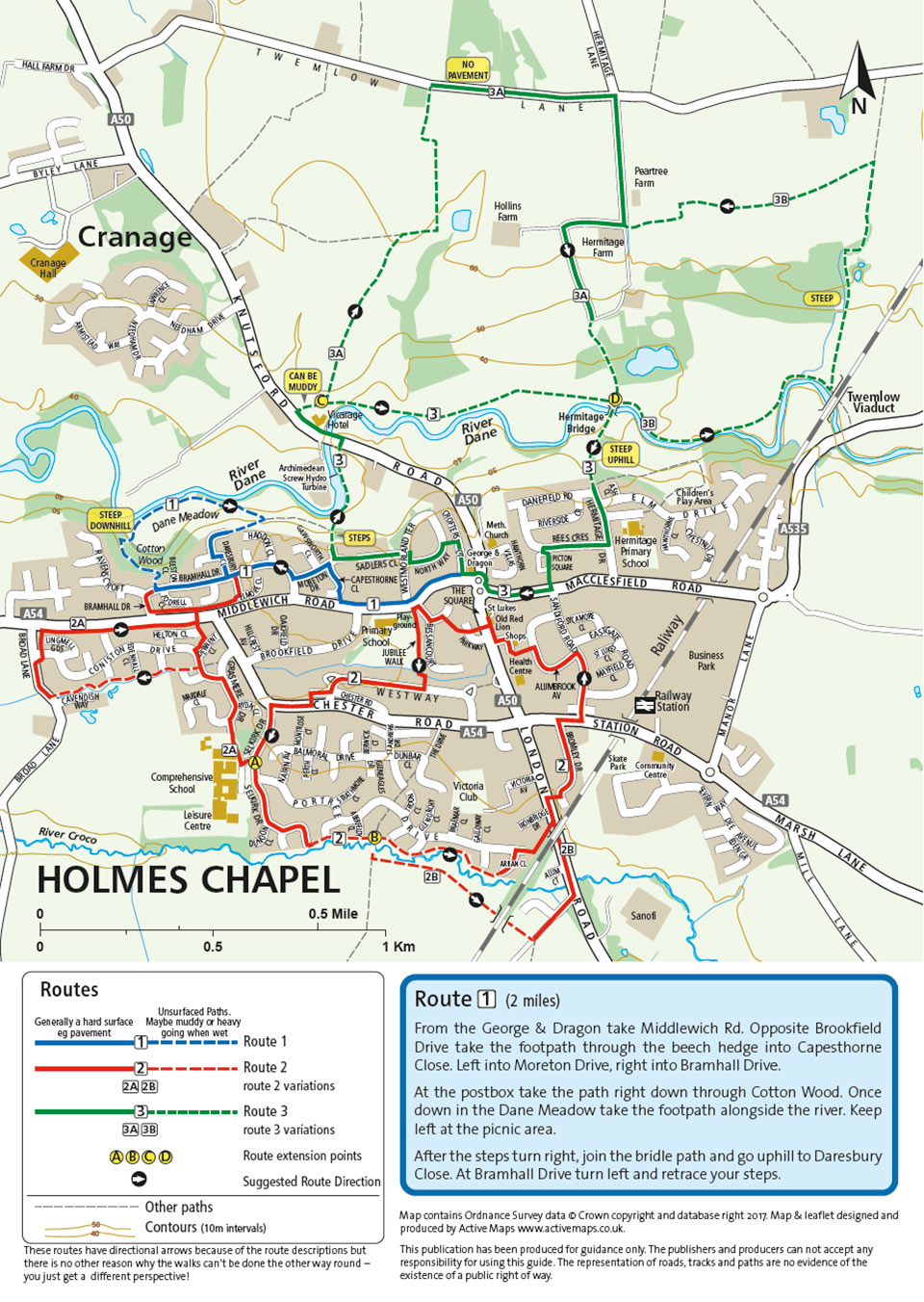 holmes chapel walking map